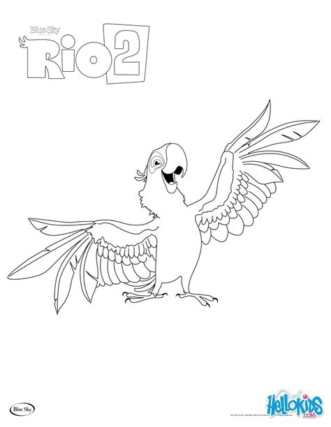 rio birds coloring pages rio 2 blu coloring pages hellokids com