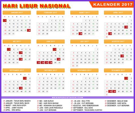 Kalender 2018 Tiket Kalender 2017 Trip Jalan Jalan