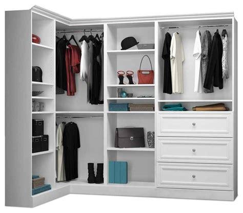 shop houzz bestar corner wardrobe in white closet