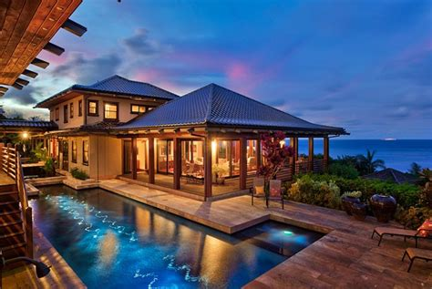 luxury homes for rent in hawaii luxury kauai vacation rentals ikena anini kauai