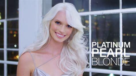 platinum pearl blonde hair color formula  step  step