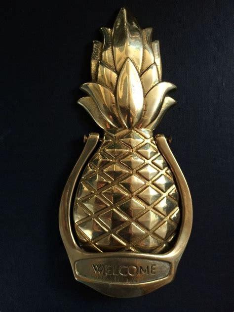 pineapple door knocker vintage solid brass door knocker pineapple design welcome pineapple design design and