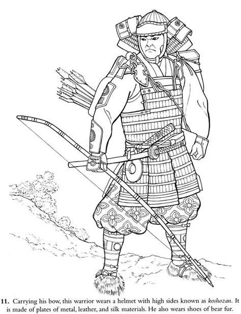 japan samurai warrior coloring page japan samurai warrior