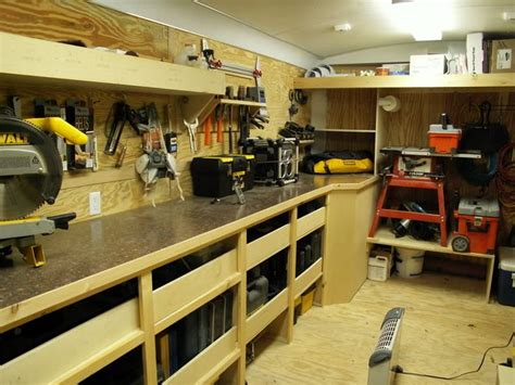 How To Set Up A Woodworking Shop In The Garage by Contractor Work Trailer Set Ups Show Us Your Shop