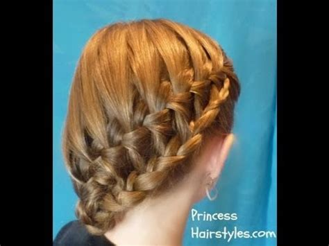 braid hairstyles for school youtube stacked waterfall braid side ponytail hairstyle for school