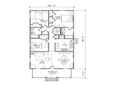 Narrow Lot Bungalow House Plans by Bungalow Cottage Narrow Lot Plan Narrow Plan Bungalow