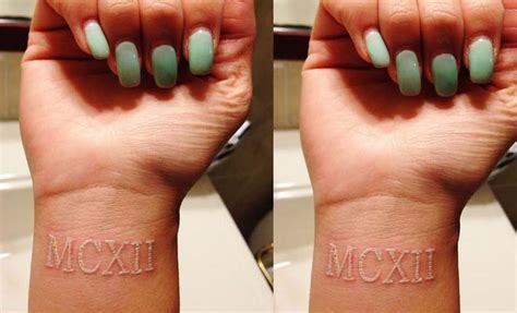 roman numerals tattoos on wrist 20 cool designs of white ink tattoos