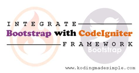 codeigniter easy tutorial how to integrate twitter bootstrap with php codeigniter