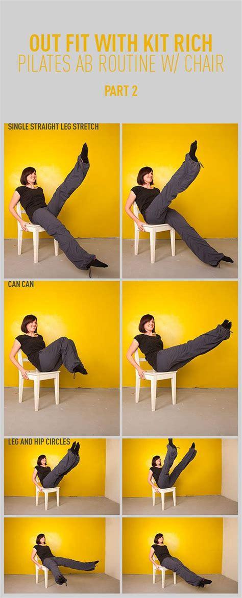 pilates abs workout   chair part  pilates abs