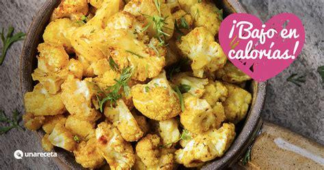 como cocinar coliflor al horno receta de coliflor al horno con curry unareceta