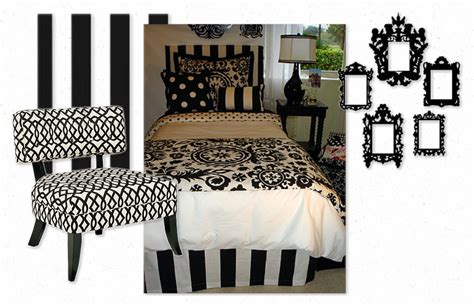 black and white girl dorm room bedding decor 2 ur door