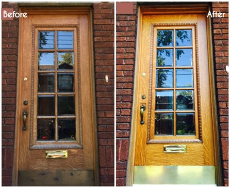 Exterior Hardwood Door How To Restore An Exterior Wood Door Diy Montreal