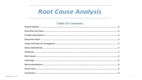 root cause analysis template word online calendar templates