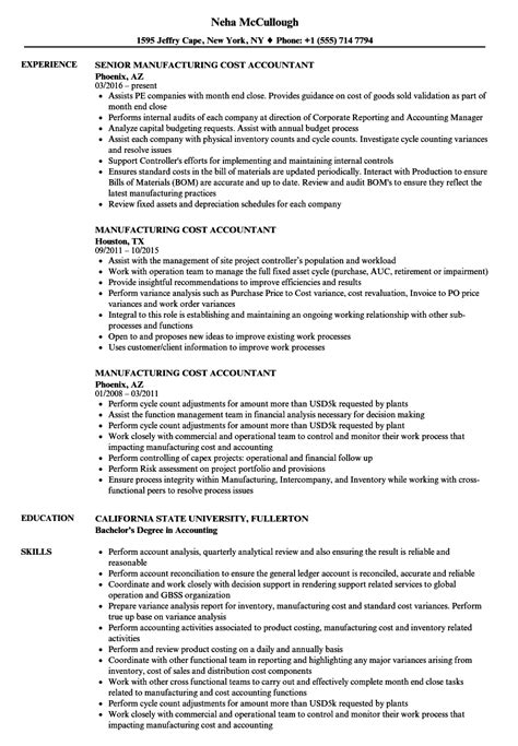 cost accountant resume sle cool sle accounting resume skills images entry level