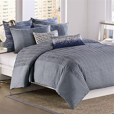 dkny bedding dkny 174 city rhythm duvet cover 100 cotton cobolt bed