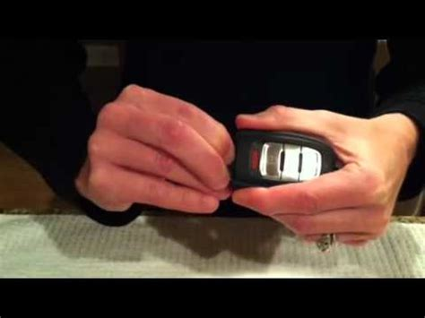 resetting key fob audi how to change the keyfob battery for the audi q5 youtube