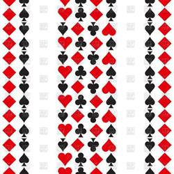 pattern with playing cards symbols vector image 126020