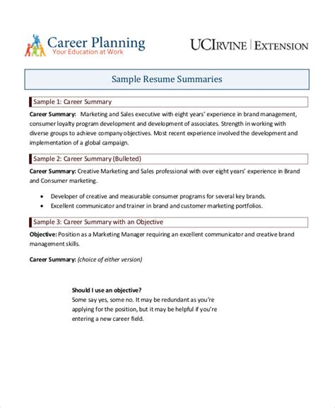 summary on a resume examples resume qualifications summary summary