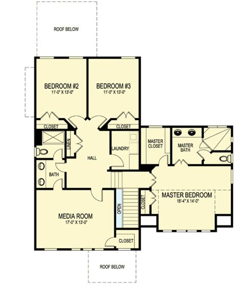 media room floor plans narrow lot home with media room 30075rt architectural