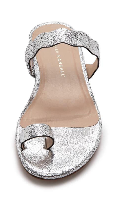 printable toe ring sizer loeffler randall petal toe ring sandals silver in