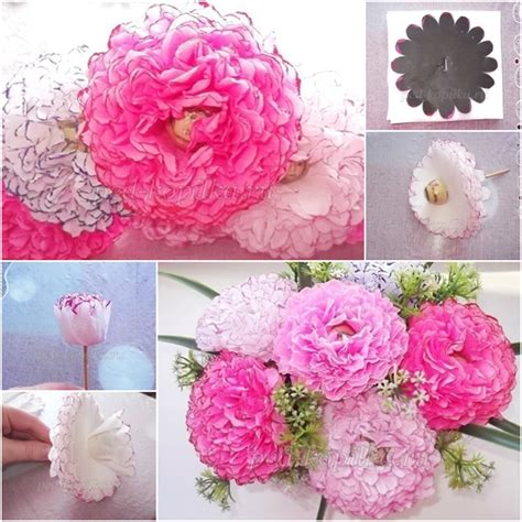 How To Make Tissue Paper Bouquet - how to make easy chocolate paper flower bouquet