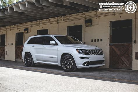 white jeep grand wheels jeep grand srt8 white cars hre wheels wallpaper