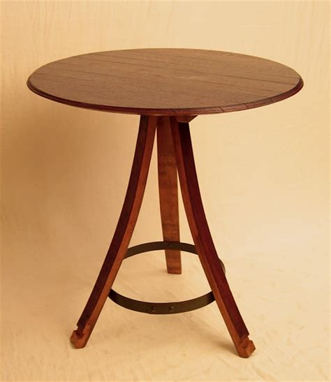 the bistro table recycled oak wine barrel by