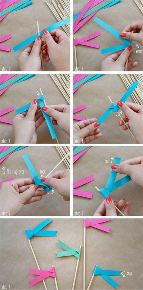 How To Make Paper Flags - tutorial de banderas de papel