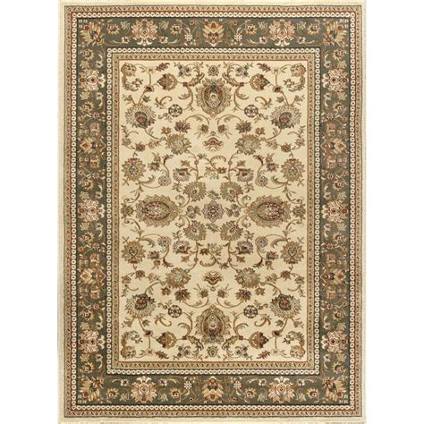 7 X 10 Area Rugs Tayse Rugs Sensation Ivory 7 Ft 10 In X 10 Ft 3 In Traditional Area Rug 4722 Ivory 8x11