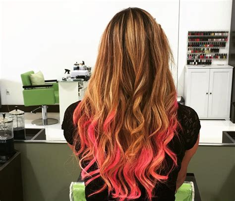 hair salons that do ombres nj pink hair ombre hair color done at salon armandeus sunny