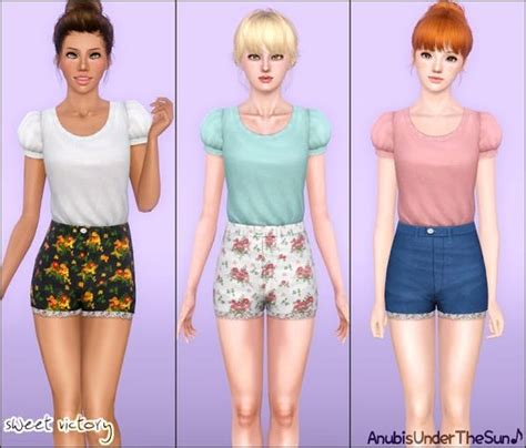sims 3 teen clothes sweet victory outfit for teen to adult sims 3 cas cc