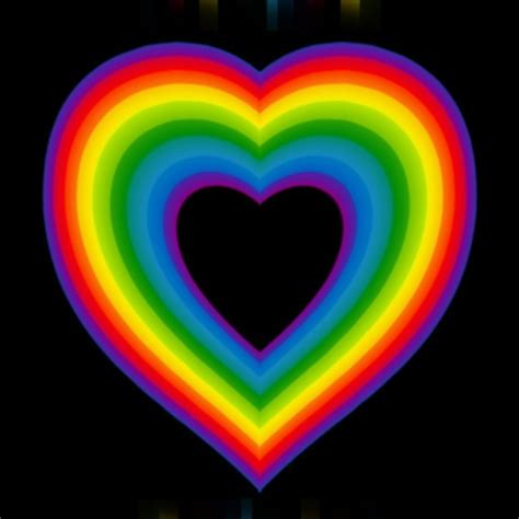 colored hearts rainbow rainbow of color