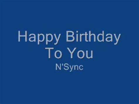 download mp3 happy birthday nsync n sync happy birthday youtube