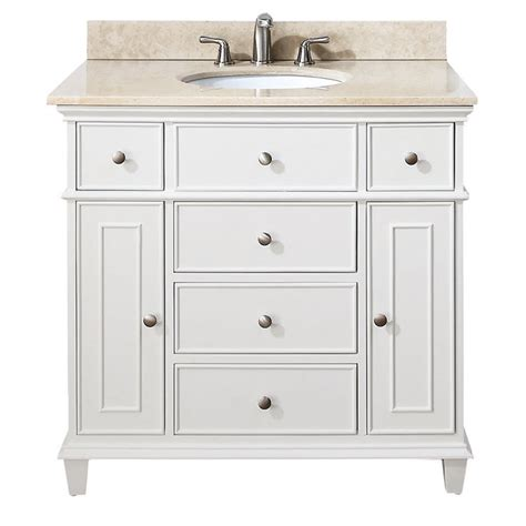 avanity windsor 36 inch white traditional single bathroom