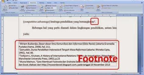 membuat catatan kaki pada word salisya rahmawati cara membuat catatan kaki di word 2003