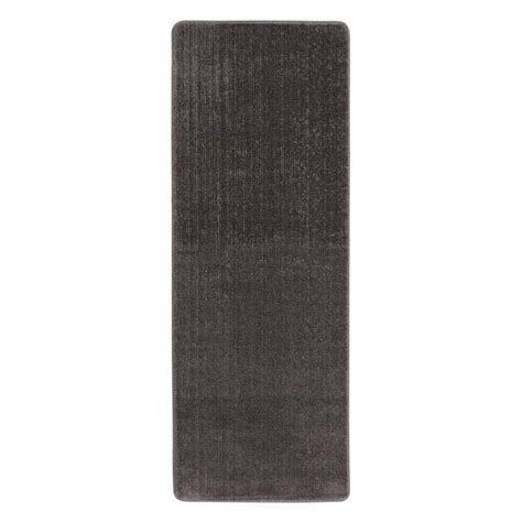 2 X 8 Runner Rugs Ottomanson Solid Design Gray 2 Ft 2 In X 8 Ft Non Slip Bathroom Rug Runner Sft870013 2x8