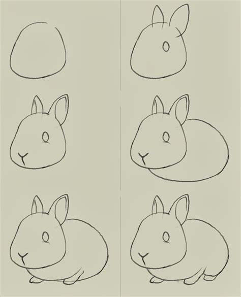 tutorial menggambar fauna passo a passo de desenho de coelhos blog cantinho