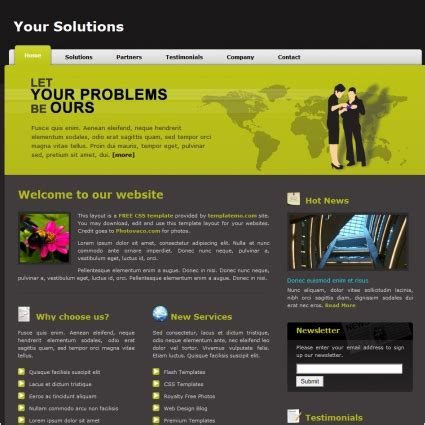 solution free website templates in css html js format