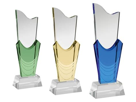 Tall Green Vase Tall Coloured Glass Awards Ac175 Awards Trophies Supplier