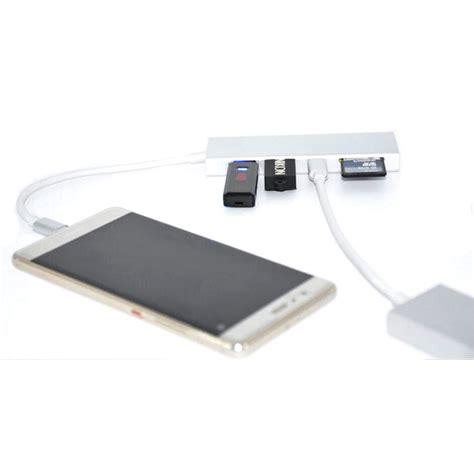 Cardreader Usb Murah usb hub 2 port 1 port usb type c with card reader model kotak silver jakartanotebook