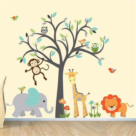 safari wall decal nursery wall decal jungle animal wall