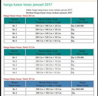 Daftar Grosir Kasur Inoac kasur inoac 2018 distributor kasur busa inoac asli global
