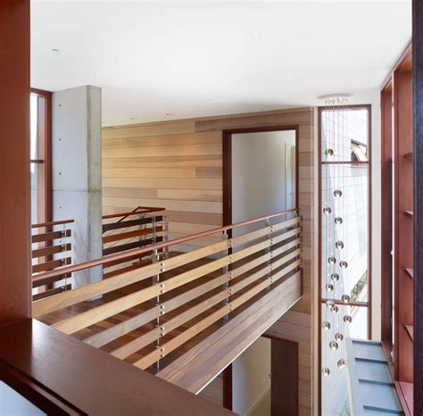 home interior railings indoor bridge and railings design using wood ideas photo