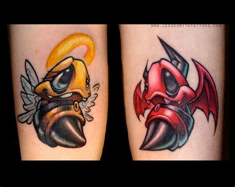 cartoon bumble bee tattoo a cartoon graffiti tattoo by jesse smith of two bees as an