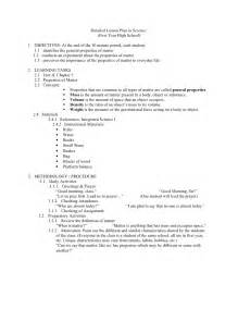 lesson plan template for science detailed lesson plan science
