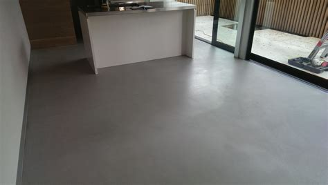 level set concrete floor finish for renovation project in