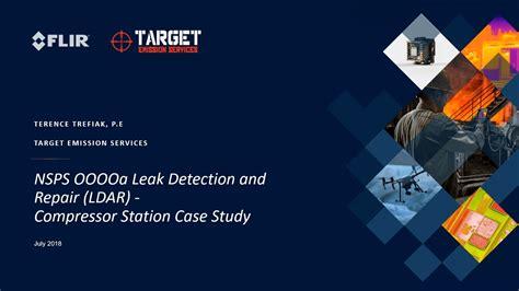 nsps ooooa leak detection  repair ldar compressor