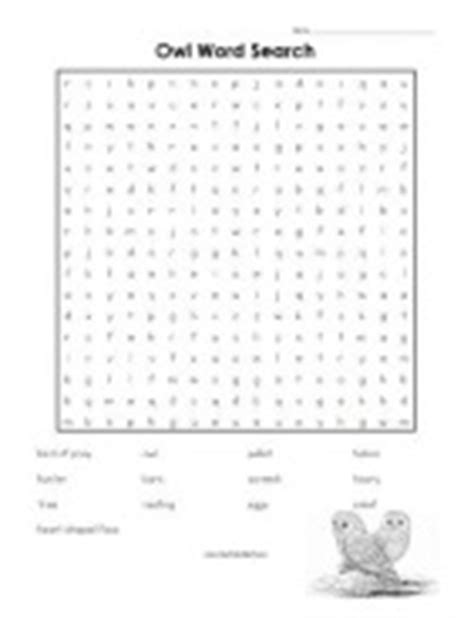 printable owl word search a to z kids stuff owl theme for school age children