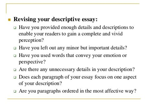 Most Essays Focus On by How To Write A Descriptive Essay