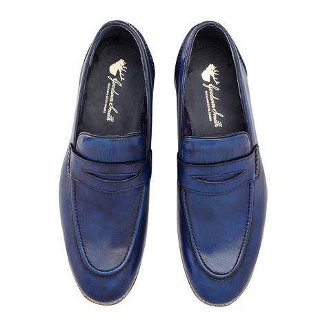 Handmade Shoes Brisbane - brisbane moccassin blue uk 6 goodwin smith touch